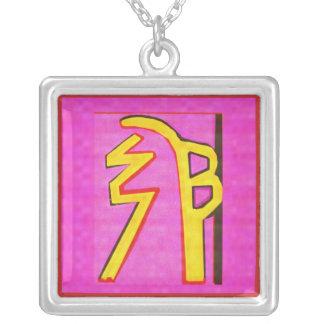 Reiki Halsketten-hängende heilende Kunst Halskette Mit Quadratischem Anhänger