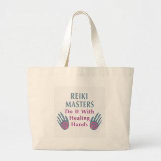Reiki Meister tun es mit den heilenden Händen Jumbo Stoffbeutel