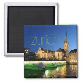 Reise-Andenken-Foto-Magnet Zürichs die Schweiz Kühlschrankmagnete