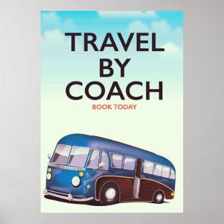 Reise durch Trainer Briten-Reiseplakat Poster