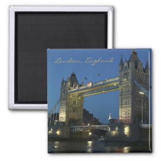 Reise-Foto-Andenken-Kühlschrankmagnet Londons Engl Quadratischer Magnet