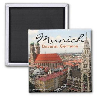 Reise-Foto-Kühlschrankmagnete Münchens Deutschland Quadratischer Magnet