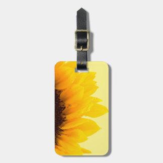 Reise-gelbe Sonnenblume auf Gelb Kofferanhänger