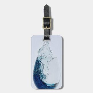 Reise-Glas blauer Alkohol Kofferanhänger
