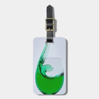 Reise-Glas grüner Alkohol Gepäckanhänger