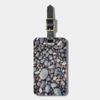 Reise-graue Felsen-Kiesel Gepäckanhänger