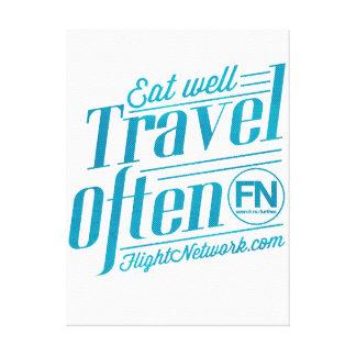 Reise-häufig Leinwand Leinwanddrucke