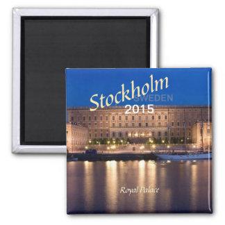 Reise-Kühlschrankmagnet-Änderungsjahr Stockholms Quadratischer Magnet