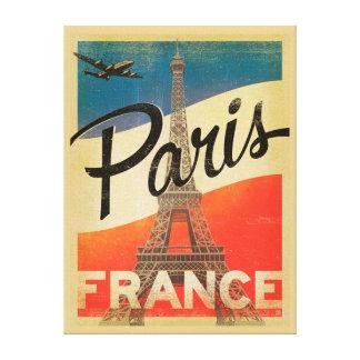 Reise-Leinwand-Druck Paris Vintager Gespannter Galeriedruck