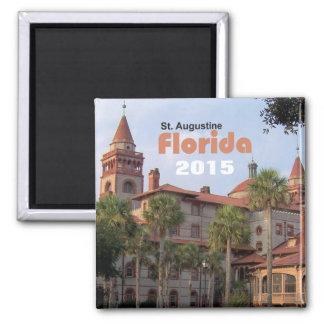 Reise-Magnet-Änderungs-Jahr St Augustine Florida Quadratischer Magnet