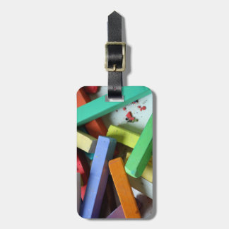 Reise-Monogramm-Regenbogen-Pastell-Kreiden Gepäckanhänger