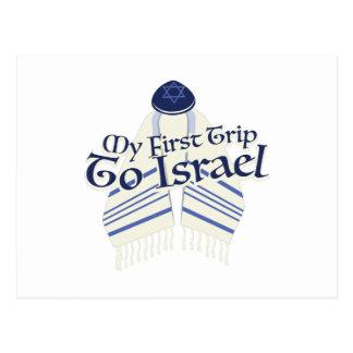 Reise nach Israel Postkarte