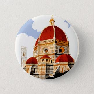 Reise-Plakat 1930 Florenz Italien Runder Button 5,7 Cm