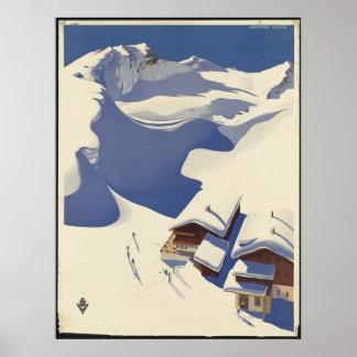Reise-Plakat-Anzeigen-Retro Drucke Österreichs Poster
