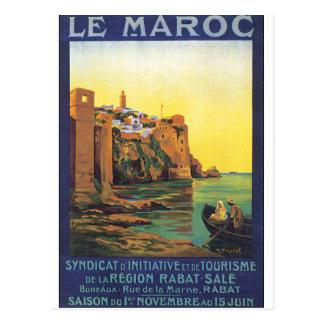 Reise-Plakat Le Maroc Vintage Postkarte