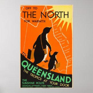 Reise-Plakat Queenslands, Australien Poster