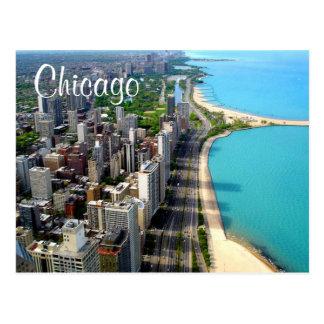 Reise-Postkarte Luftaufnahme-Chicagos Illinois Postkarte