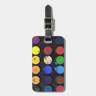 Reise-Regenbogen-Farben-Paletten-Töpfe Kofferanhänger