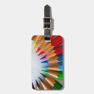 Reise-Regenbogen farbige Bleistift-Punkte Kofferanhänger