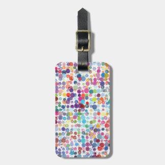 Reise-Regenbogen-Kunst-Farben-Spritzer Gepäckanhänger