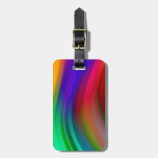 Reise-Regenbogen-Wellen-Streifen Kofferanhänger
