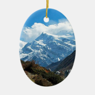 Reise-Sommer Himalaja-Mount Everest-Indiens Nepal Ovales Keramik Ornament