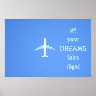 Reise-Traum-Zitat-Plakat Poster