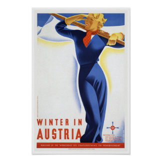 Reise-Winter im Österreich-Ski-Sport Poster