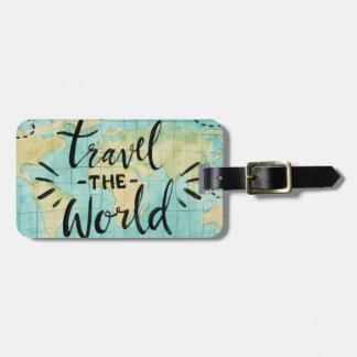 Reisen der WeltAquarell-Gepäckanhänger Gepäckanhänger
