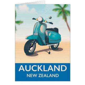 Reiseplakat Aucklands Neuseeland Karte