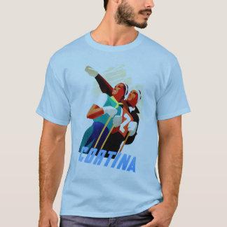 Reiseski-Wintersport des Cortina Vintager T-Shirt