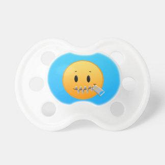 Reißverschluss Emoji Schnuller