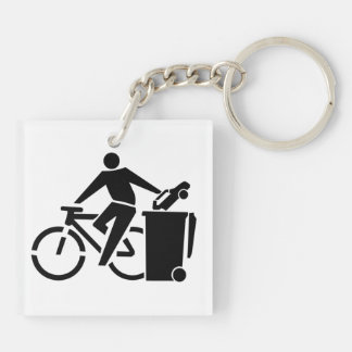 Reiten Sie ein Fahrrad nicht ein Auto Schlüsselanhänger