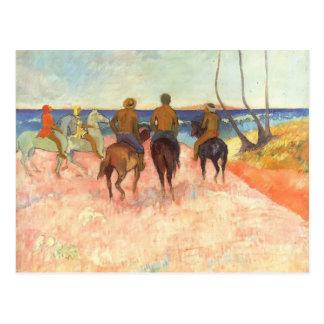 Reiter Pauls Gauguin- auf dem Strand Postkarte