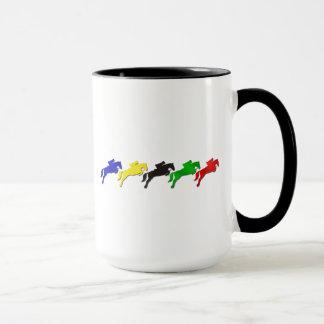 Reiterspringendes Pferd des dressage und der Show Tasse
