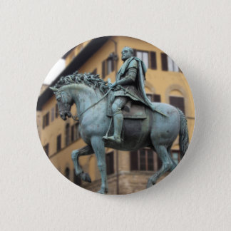 Reiterstatue von Cosimo de Medici, Florenz Runder Button 5,7 Cm