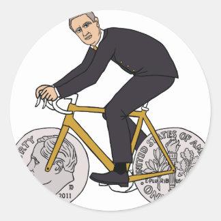 Reitfahrrad Franklins D Roosevelt mit Runder Aufkleber