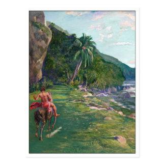 Reitweg Tahiti durch La Farge Postkarte