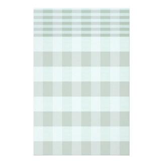 Reizend grünes kariertes Briefpapier