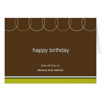 Reizend Ring-Geschäfts-Geburtstagskarten Mitteilungskarte