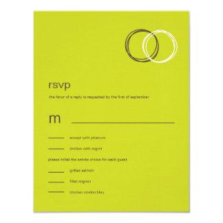Reizend Ringe, die RSVP/Response Karten Wedding 10,8 X 14 Cm Einladungskarte