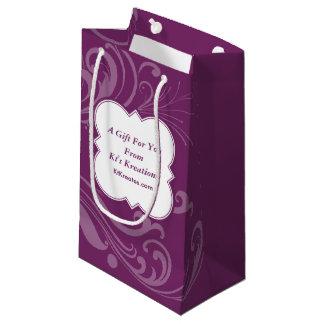Reizende Aufkleber-lila Eleganz Kleine Geschenktüte