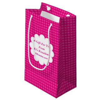 Reizende Aufkleber-rosa Tupfen Kleine Geschenktüte