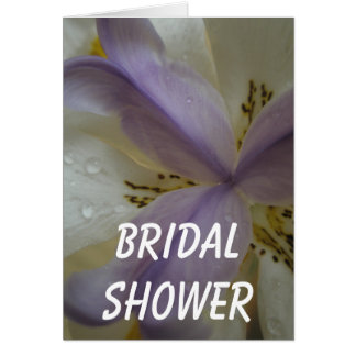Reizende Lilien-Hochzeit Karte