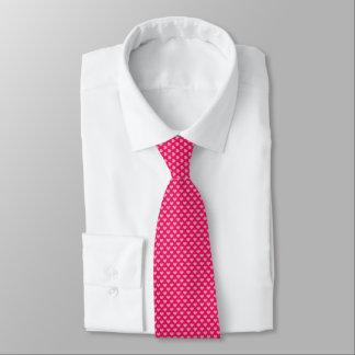 Reizende rosa Herzen als Punkte Personalisierte Krawatten