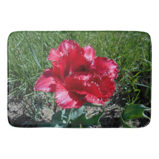 Reizende rote Tulpe Badematte