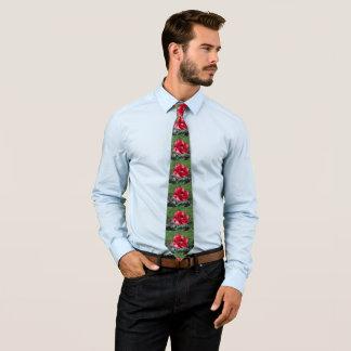 Reizende rote Tulpe Bedruckte Krawatte