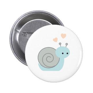 Reizende Schnecke Runder Button 5,7 Cm