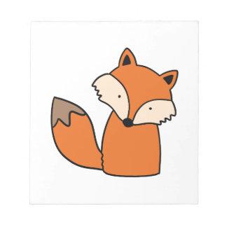 Reizender roter Fuchs Notizblock