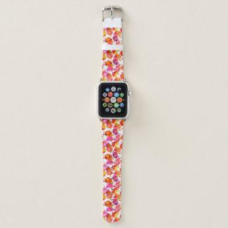 Reizender Watercolorherbst verlässt Muster Apple Watch Armband